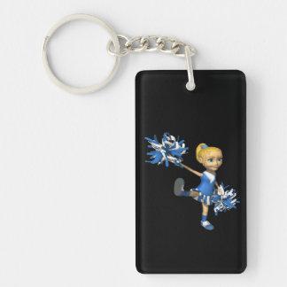 Blonde Cheerleader 2 Rectangular Acrylic Keychain