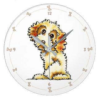 Blonde Cocker Spaniel Poodle Mix Clocks