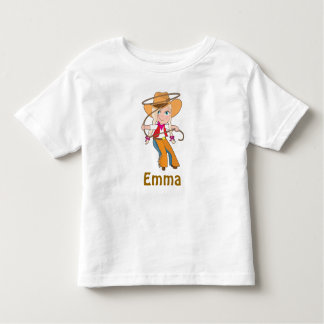 Blonde Cowgirl Shirt with Name