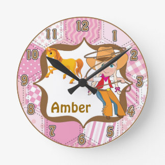 Blonde Cowgirl Wall Clock