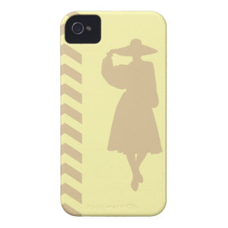 Blonde Cream Neutral Chevrons Fashion iPhone 4 Case