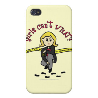 Blonde CSI Girl Cases For iPhone 4