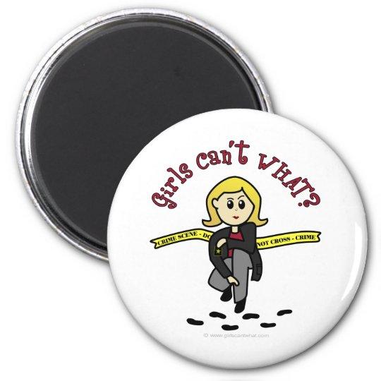 Blonde CSI Girl Magnet
