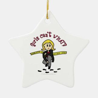 Blonde CSI Girl Christmas Ornament