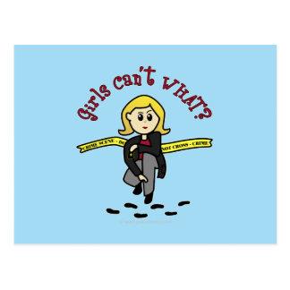 Blonde CSI Girl Postcard