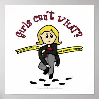 Blonde CSI Girl Poster