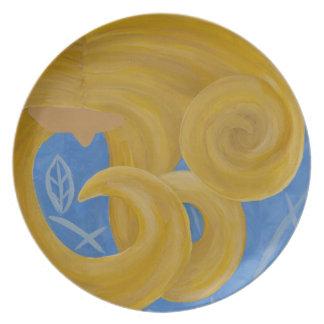 """Blonde"" Customized Plate by Lara Kulpa"