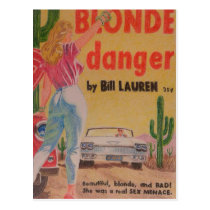 Blonde Danger postcard
