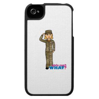 Blonde de Camo de la fuerza aérea iPhone 4 Carcasas