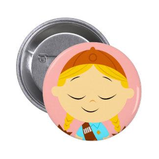 blonde de centro del girl scout del _del chica pins