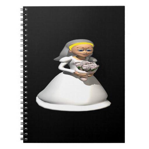 Blonde de la novia libros de apuntes con espiral