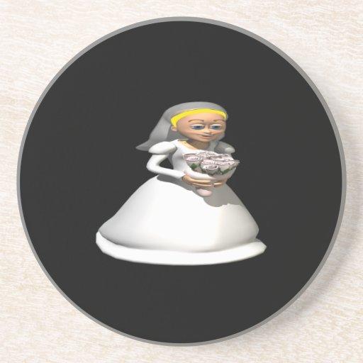 Blonde de la novia posavasos personalizados