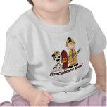 Blonde de la regla de los bomberos camisetas