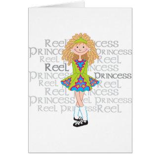 Blonde del carrete tarjeta de felicitación