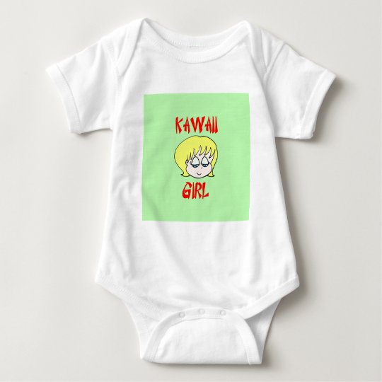 blonde del chica del kawaii body para bebé