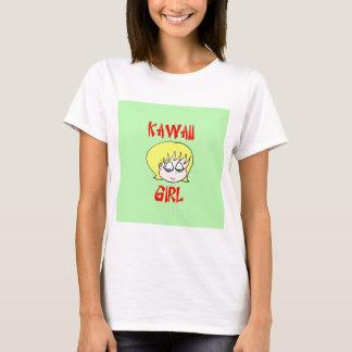 blonde del chica del kawaii playera