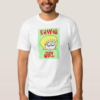 blonde del chica del kawaii playeras