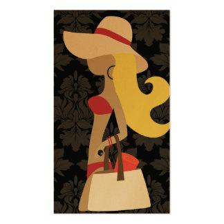Blonde del fashionista de 311 bikinis tarjeta de visita