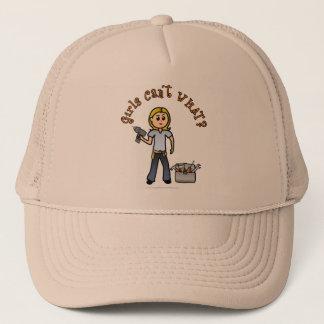 Blonde Do-It-Yourself Diva Trucker Hat