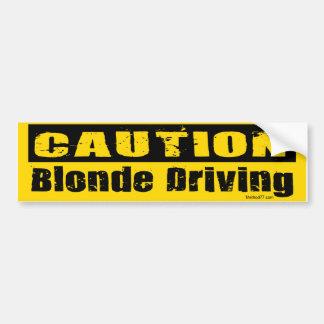 Blonde Driving Bumper Sticker Car Bumper Sticker
