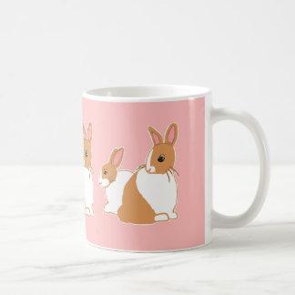 Blonde Dutch Rabbits Pink Mug