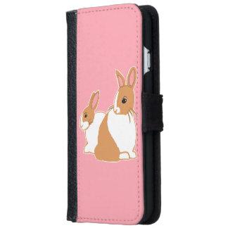 Blonde Dutch Rabbits Pink Phone Wallet Case