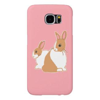 Blonde Dutch Rabbits Pink Samsung Galaxy S6 Case