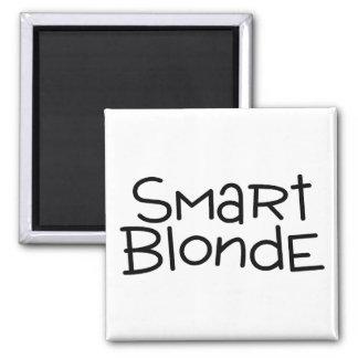 Blonde elegante imán cuadrado