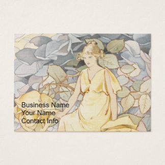 Blonde Fairy in Rose Garden Business Card
