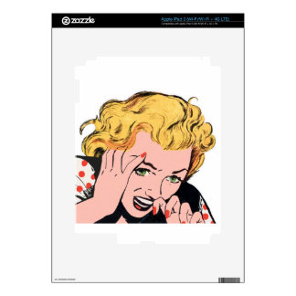 Blonde Fantasy Vintage Comic iPad 3 Decals