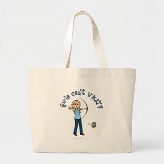 Blonde Female Archery in Blue Bag