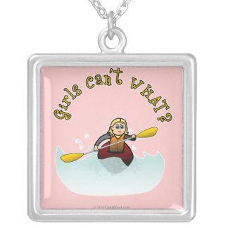 Blonde Female Kayaker Necklaces