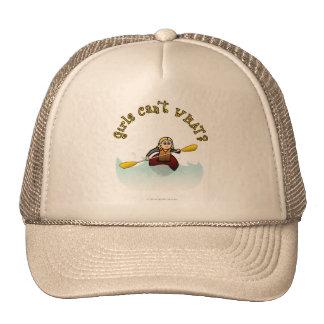 Blonde Female Kayaker Trucker Hat