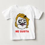 Blonde Female Me Gusta Comic Rage Face Meme Baby T-Shirt