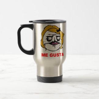 Blonde Female Me Gusta Comic Rage Face Meme Travel Mug