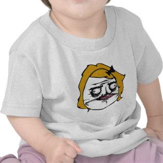 Blonde Female Me Gusta Comic Rage Face Meme Tee Shirts