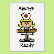 Blonde Female Nurse Greeting Card  Customize It.
