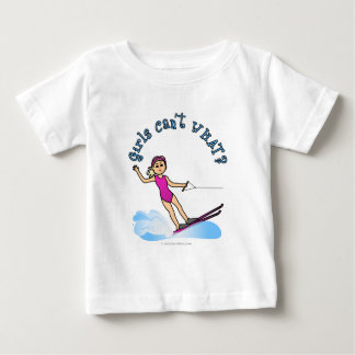 Blonde Female Water Skier Baby T-Shirt
