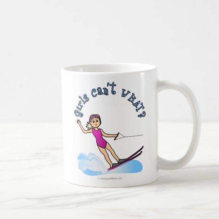 Blonde Female Water Skier Coffee Mug