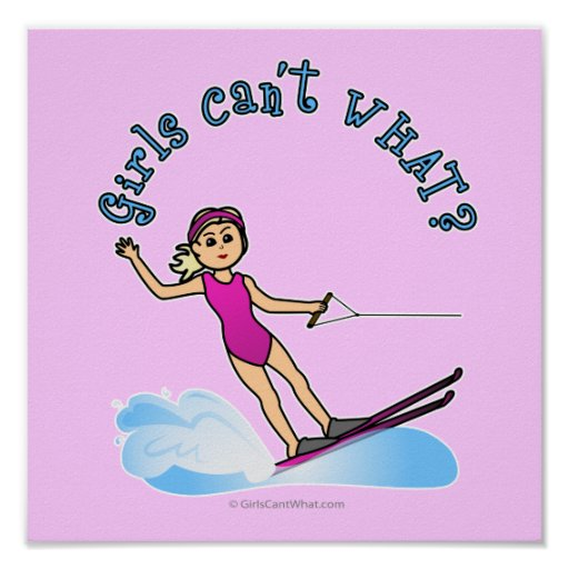 Blonde Female Water Skier Print