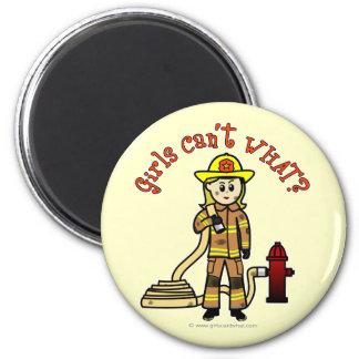 Blonde Firefighter Girl Refrigerator Magnets