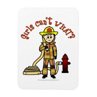 Blonde Firefighter Girl Flexible Magnet