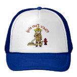 Blonde Firefighter Girl Trucker Hat