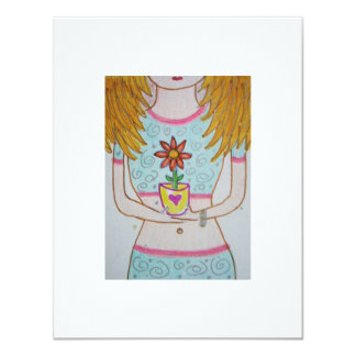 Blonde Flowergirl ACEO Card