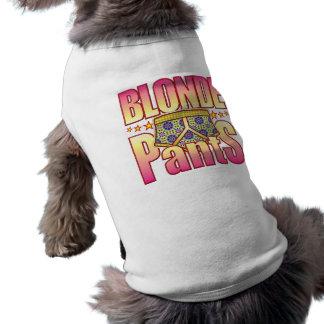 Blonde Flowery Pants Dog Tee