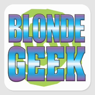 Blonde Geek v3 Square Sticker