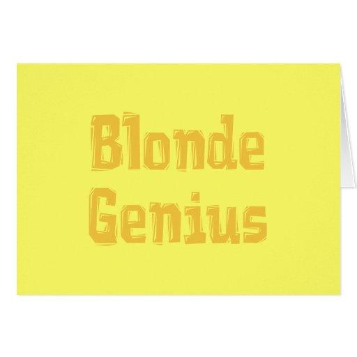 Blonde Genius Gifts Greeting Cards