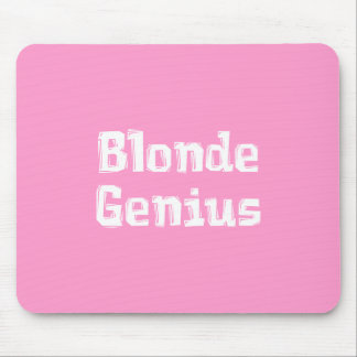 Blonde Genius Gifts Mouse Pad