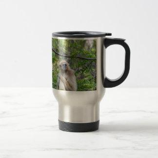 Blonde Gibbon Monkey - Hylobates lar Travel Mug