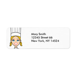 Blonde Girl Baker Address Labels